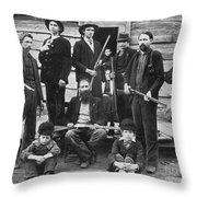 The Hatfields, 1899 - To License For Professional Use Visit Granger.com Throw Pillow
