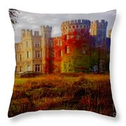 The Haunted Castle Throw Pillow