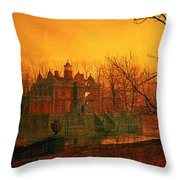 The Haunted House Throw Pillow by John Atkinson Grimshaw