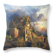 The Haunted House Throw Pillow by Thomas Moran