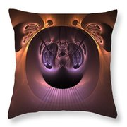 The Haunted Mirror Throw Pillow