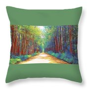The Haunted Swamp  Throw Pillow