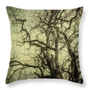 The Haunted Tree Throw Pillow