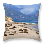 The Hazards From The Beach Throw Pillow