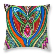 The He And She Together Throw Pillow
