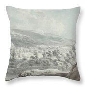 The Head Of Ullswater Throw Pillow