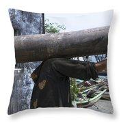 The Headless Man Throw Pillow
