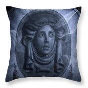 The Headstone Of Madame Leota Throw Pillow