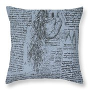 The Heart And The Bronchial Arteries Throw Pillow