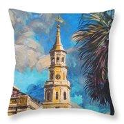 The Heart Of Charleston Throw Pillow