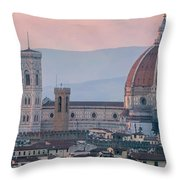 The Heart Of Florence Italy Throw Pillow