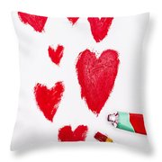 The Heart Of Love Throw Pillow