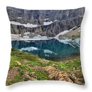 The Heart Of Many Glacier Throw Pillow