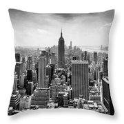 New York City Skyline Bw Throw Pillow