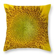 The Heart Of The Sunflower Throw Pillow