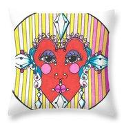 The Heart Queen Throw Pillow