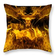 The Heat Of Passion Throw Pillow