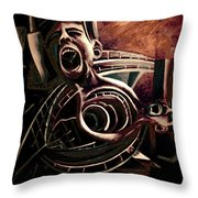 The Heated City Throw Pillow