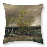 The Heath In A Storm Throw Pillow by Valentin Ruths