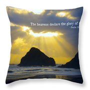 The Heavens Declare Throw Pillow by Bonnie Bruno