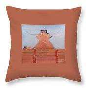 The Heiland Coo At Christmas Throw Pillow