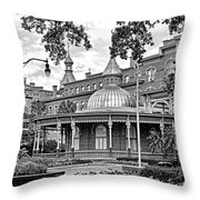 The Henry B. Plant Museum Bw Throw Pillow