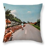 The Herd 3 Throw Pillow