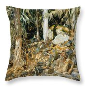 The Hermit. Il Solitario Throw Pillow