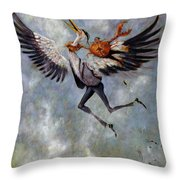 The Heron And The Crab Throw Pillow
