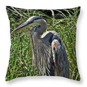 The Heron Throw Pillow
