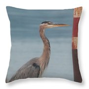 The Heron Of The Doc Throw Pillow