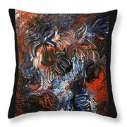 The Hibiscus Flowers Throw Pillow by Michael Kulick