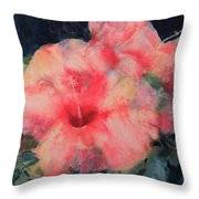 The Hibiscus Throw Pillow