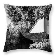 The Hidden English Estate Throw Pillow