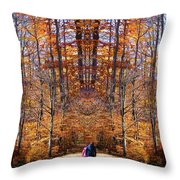 The Hidden Path Revealed Throw Pillow