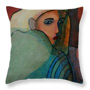 The Hiding Child Within Throw Pillow