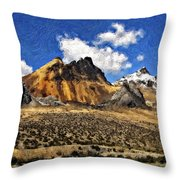 The High Andes Painted Version Throw Pillow