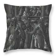 The High Priest Before Pilate [verso] Throw Pillow