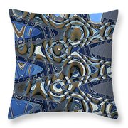 The High Road,abstract Throw Pillow