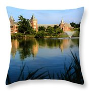 The High School In New Rochelle Throw Pillow