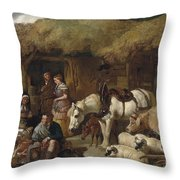 The Highland Game Keeper Throw Pillow
