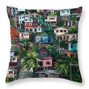 The Hill     Trinidad  Throw Pillow by Karin  Dawn Kelshall- Best