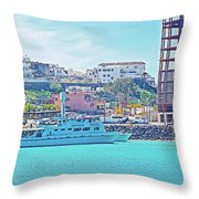The Hill In Puerto Penasco In Sonora-mexico   Throw Pillow