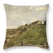 The Hill Of Montmartre With Stone Quarry 2 Throw Pillow