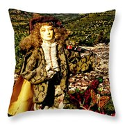 The Hills Are Alive In Santorini Throw Pillow