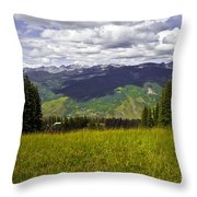 The Hills Are Alive In Vail Throw Pillow