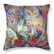 The Hills Of Safed Throw Pillow