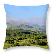The Hills Of Southern Ireland Throw Pillow