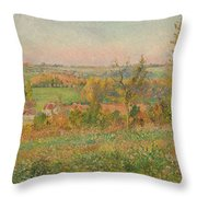 The Hills Of Thierceville Seen From The Country Lane Throw Pillow