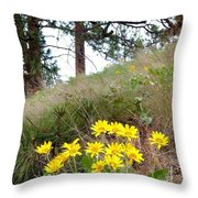 The Hillsides Are Alive Throw Pillow